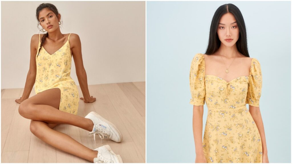 Taylor Swift rocked a yellow floral dress in her debut TikTok.