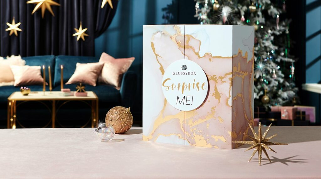The Glossy Box advent calendar for 2021.