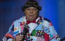 Roy Chubby Brown performs on stage