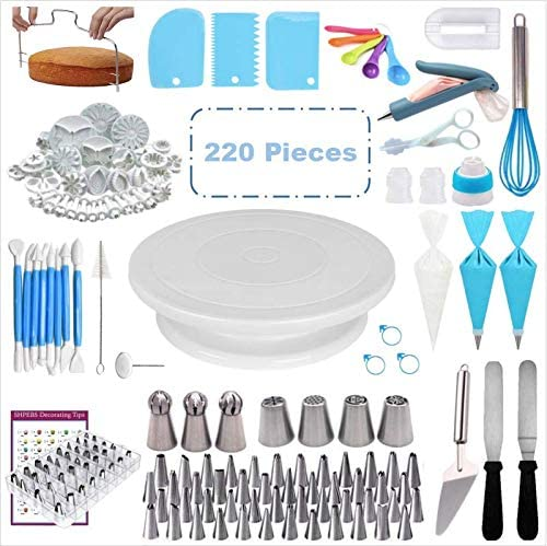 This cake decorating kit features 220 pieces. (Amazon)