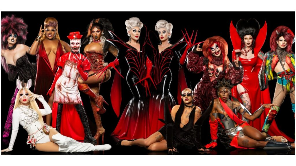 10 drag artists will compete on season four of The Boulet Brothers' Dragula.