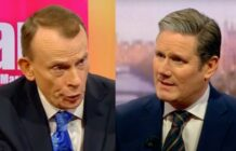 Andrew Marr interviewing Keir Starmer on BBC 1