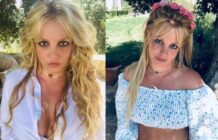 Britney Spears poses for pictures shared on her Instagram account