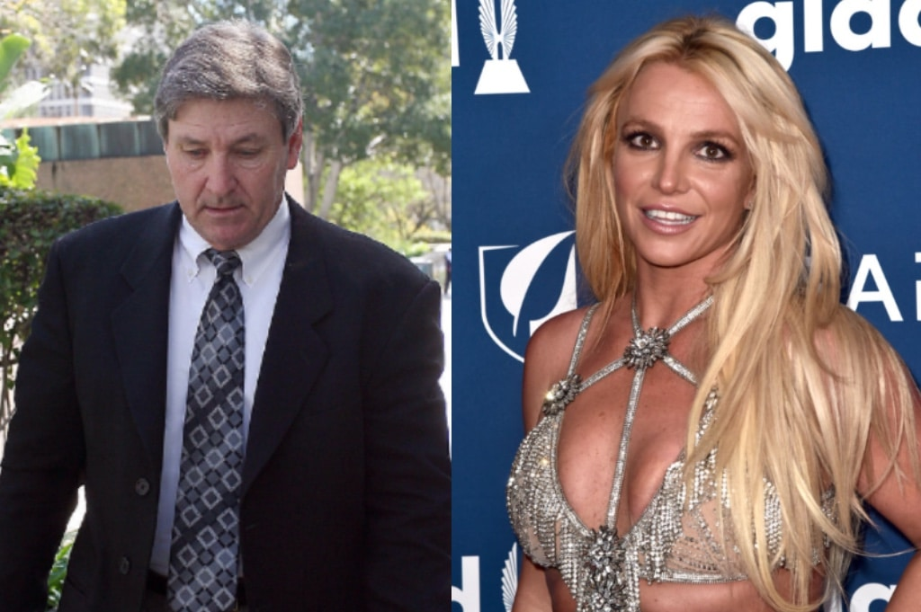 Jamie Spears leaving court and Britney Spears at the GLAAD Awards