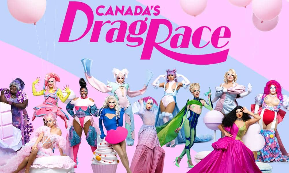 Group image of the contestants for Canada's Drag Race season two