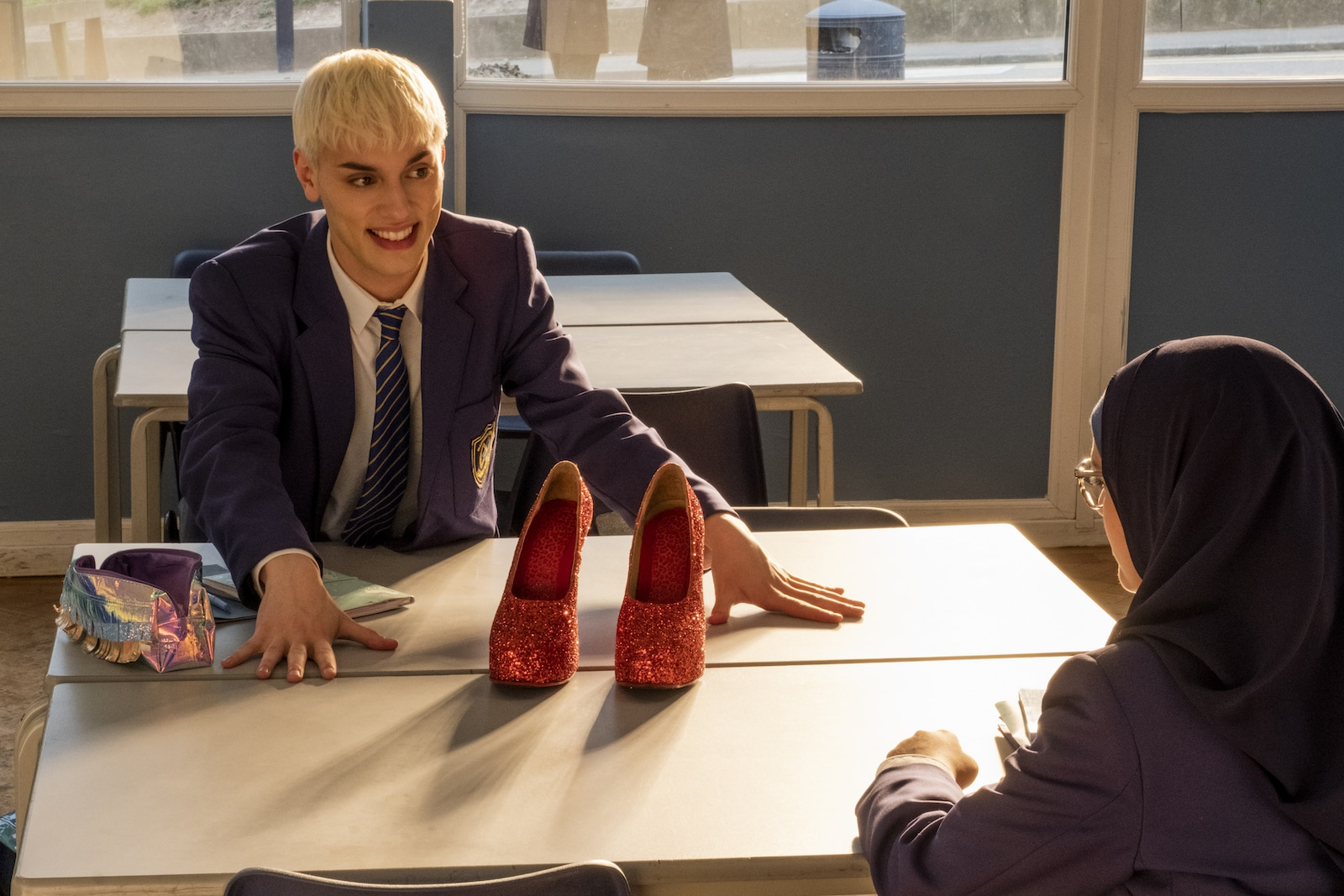 Max Harwood as Jamie New in Everybody's Talking About Jamie.