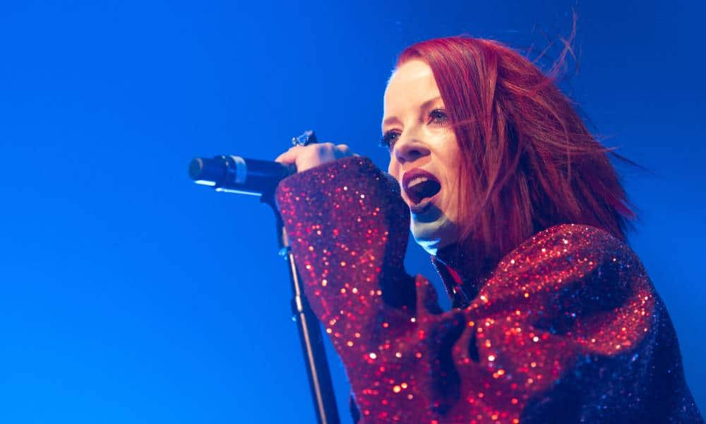 Shirley Manson of Garbage performs on stage at Alhambra Theatre