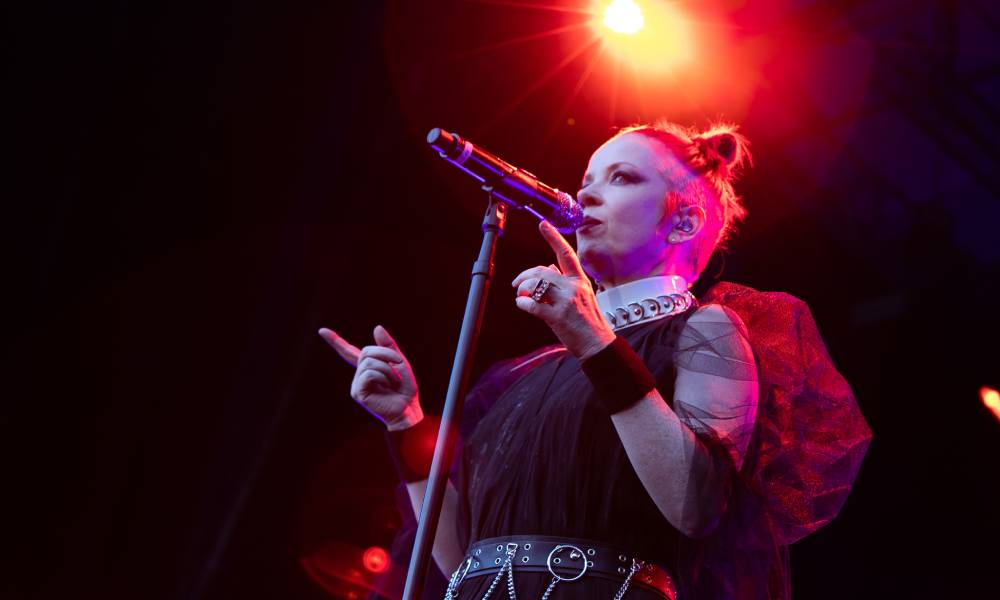 Shirley Manson of Garbage performs on stage at Iveagh Gardens