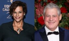 A side by side image of trans actor and Broadway star Alexandra Billings and British theatre producer Cameron Mackintosh