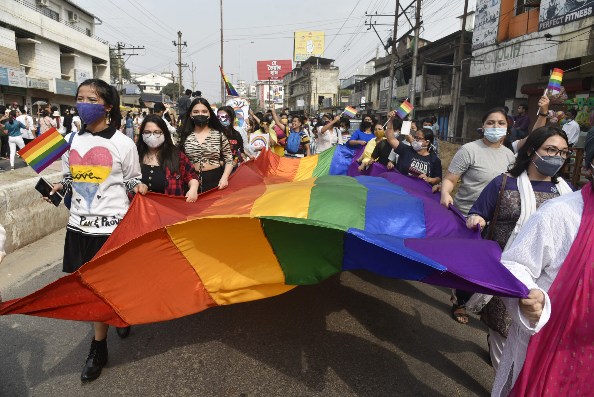 Youth takes part in the annual LGBT pride parade