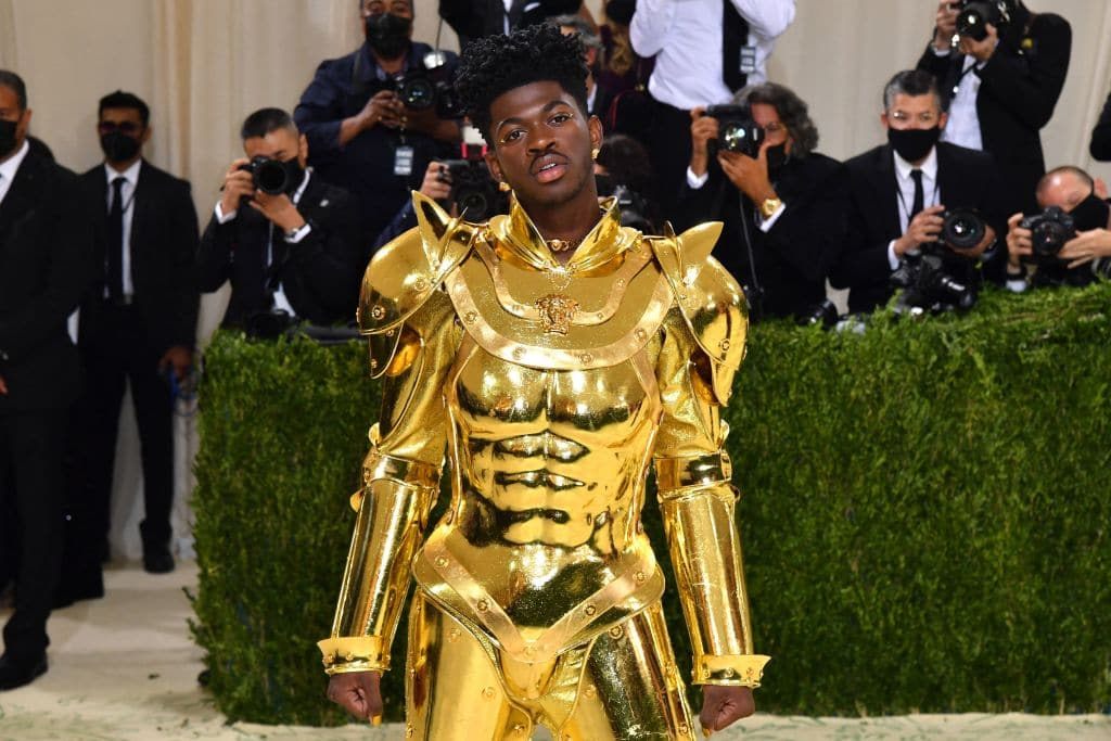Lil Nas X debuts one of three Versace looks at the 2021 Met Gala