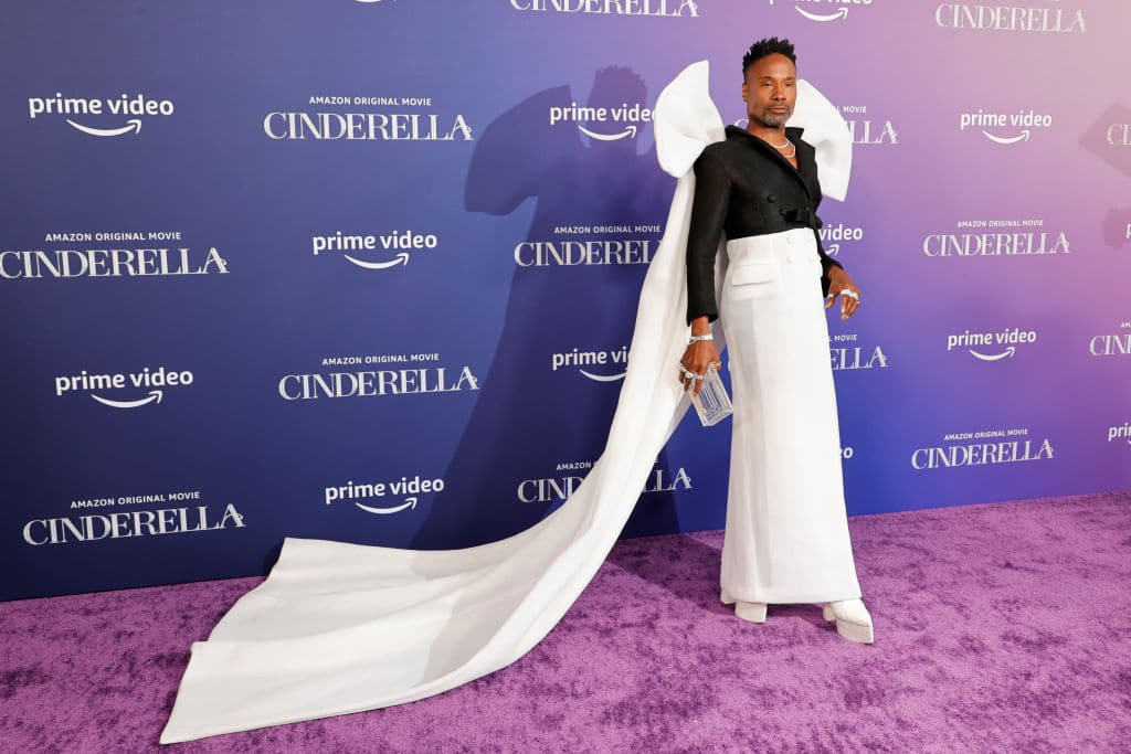 """Billy Porter attends the Los Angeles Premiere of Amazon Studios' """"Cinderella"""" at The Greek Theatre on August 30, 2021 in Los Angeles, California."""