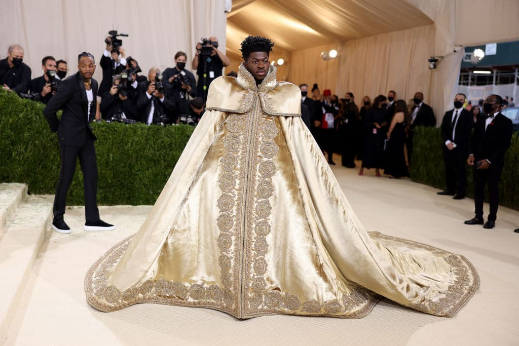 Lil Nas X attends The 2021 Met Gala Celebrating In America: A Lexicon Of Fashion