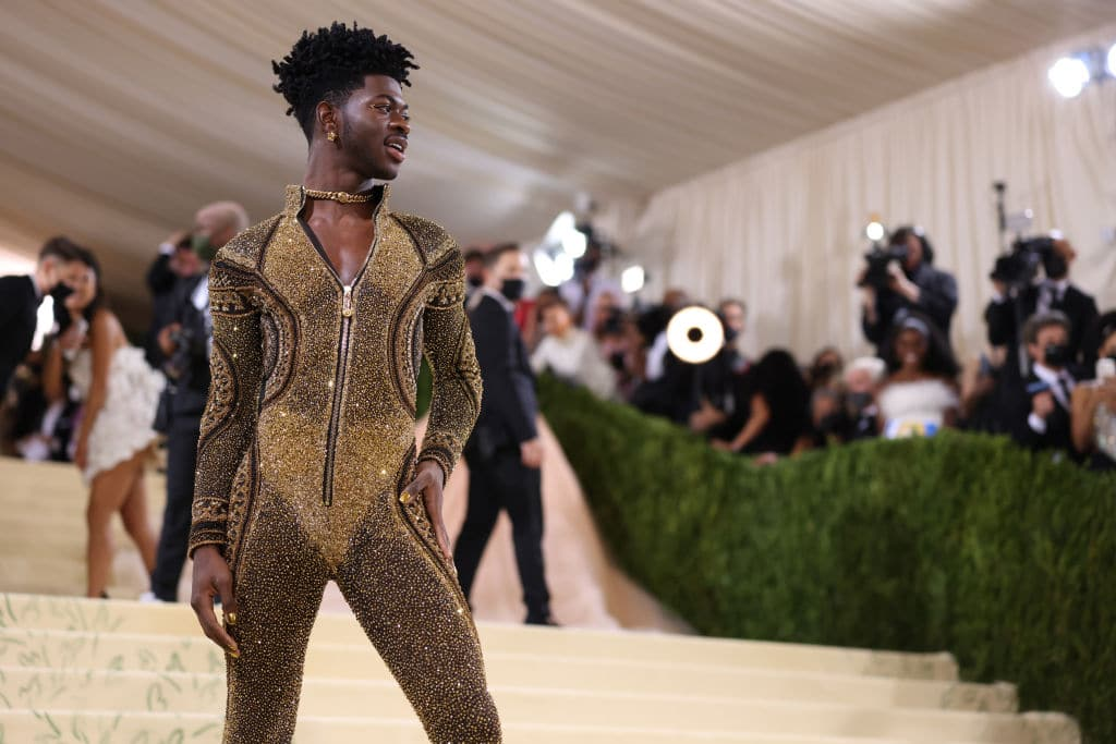 Lil Nas X attends The 2021 Met Gala Celebrating In America: A Lexicon Of Fashion at Metropolitan Museum of Art on September 13, 2021 in New York City.