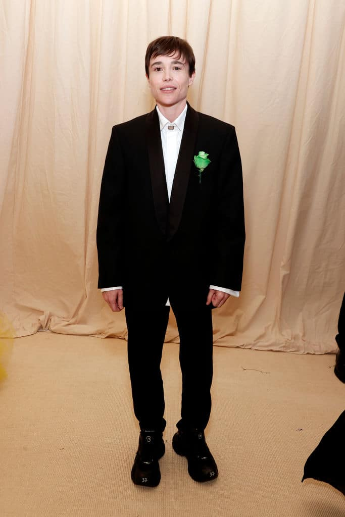 Elliot Page paid tribute to Oscar Wilde at the Met Gala.