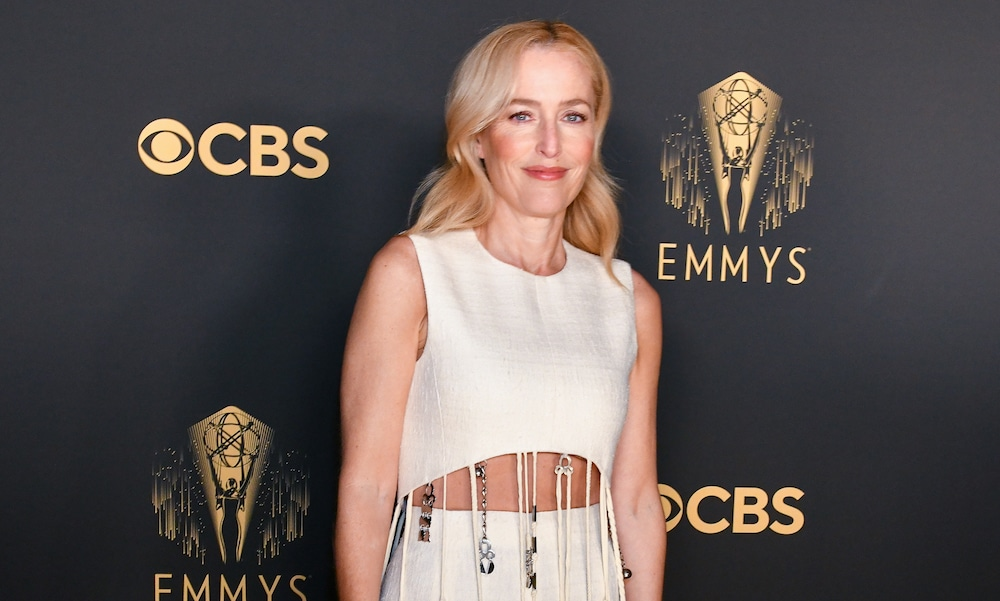 Gillian Anderson attends the 73rd Emmy Awards