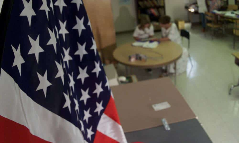 Teacher bans American flag from classroom as it 'stands for violence and intolerance'