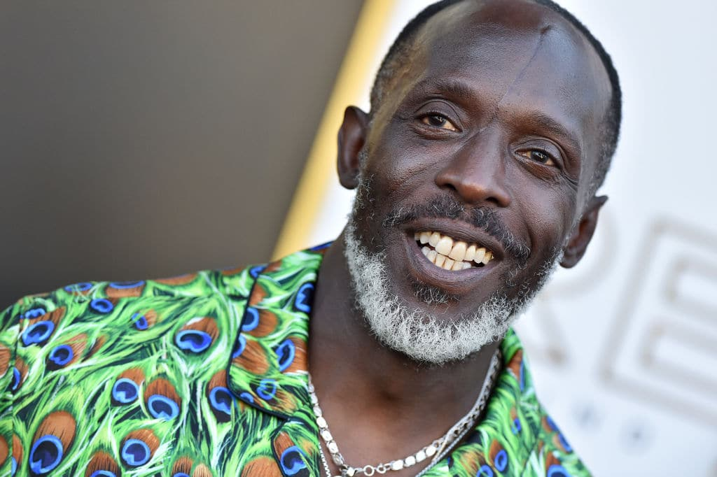 """Michael K. Williams attends the Los Angeles Premiere of MGM's """"Respect"""" at Regency Village Theatre on August 08, 2021."""