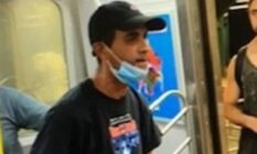 The hate crime suspect on the NYC subway
