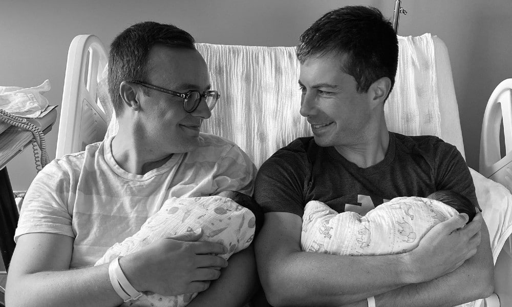 Pete Buttigieg only found out he was having twins 24 hours before birth