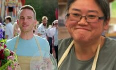side by side images of LGBT+ bakers Great British Bake Off contestants David Atherton and Yan