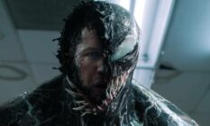 A picture of Eddie Brock and Venom fused together from the 2018 film Venom