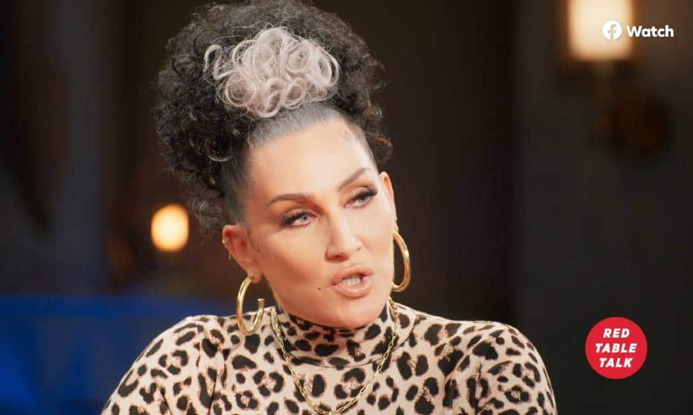 Michelle Visage appears in an interview on Facebook Watch's Red Table Talk with Willow Smith, Jada Pinkett Smith and Adrienne Banfield-Norris