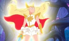 A picture of She-Ra from the animated series She-Ra: Princess of Power which was produced by DreamWorks Animation for Netflix