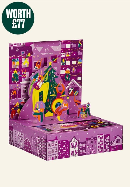 The 2021 advent calendar from The Body Shop.