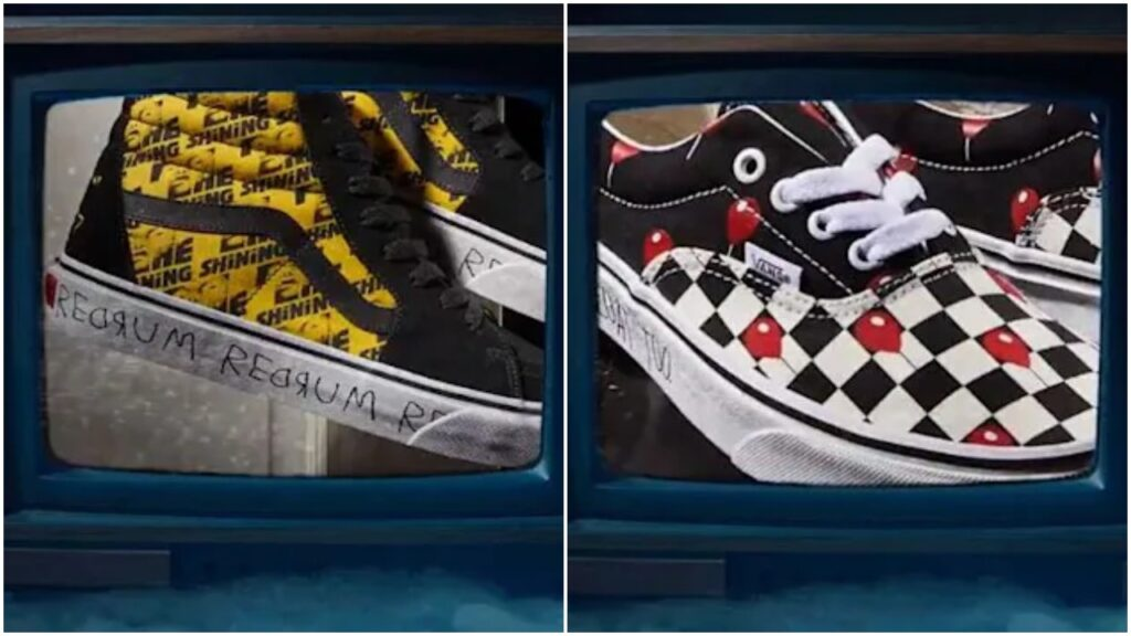 The Vans x Horror collection features sneakers inspired by classic films.