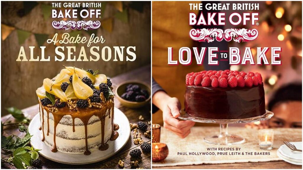 The official Bake Off books feature recipes by Paul Hollywood, Prue Leith and the contestants.