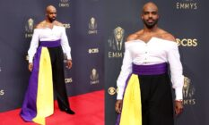 Carl Clemons-Hopkins at the 2021 Emmys.