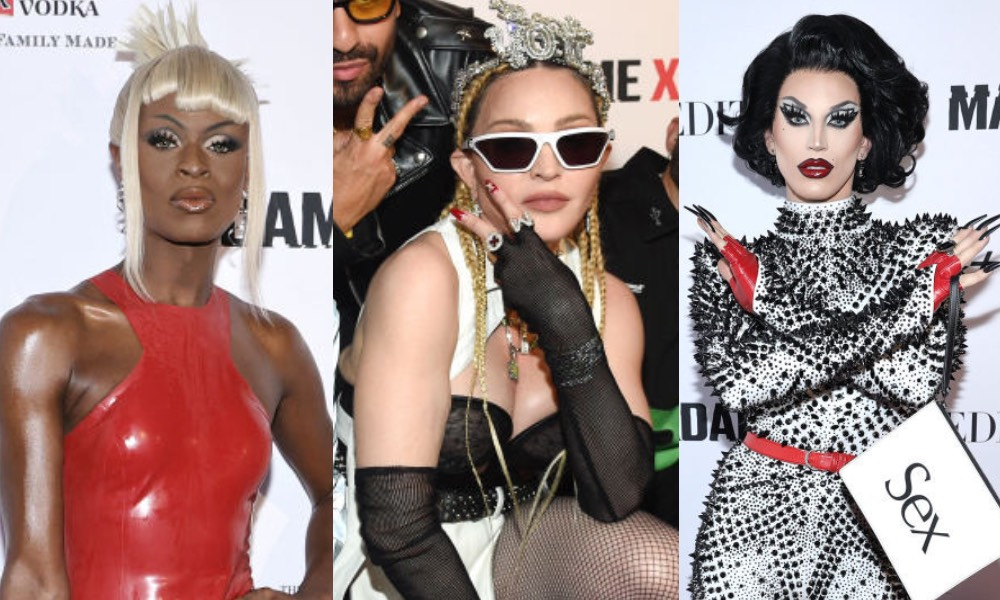 Madonna and Drag Race royalty strike a pose on the red carpet at Madame X premiere