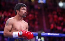 Manny Pacquiao in the boxing ring