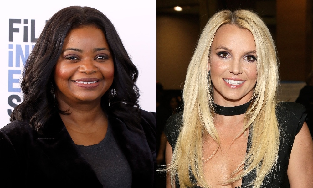 Headshots of Octavia Spencer (L) and Britney Spears