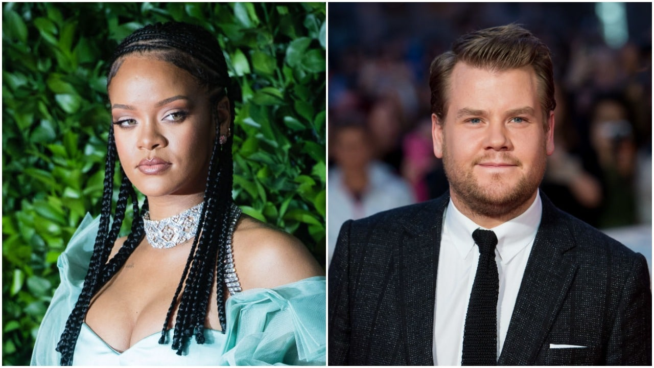 Rihanna fans tell James Corden to 'stay away from her' after the pair team up