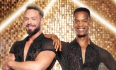 John Whaite (L) and Johannes Radebe pose for their Strictly promotional picture