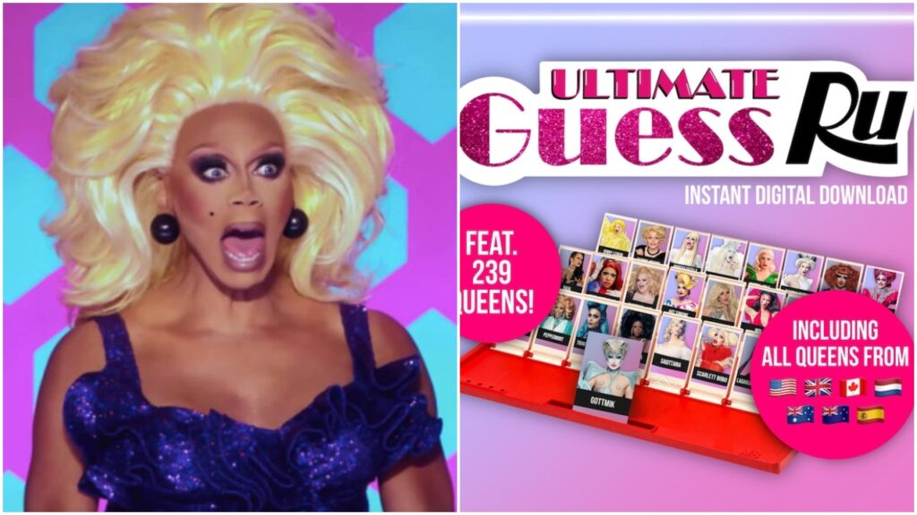 The RuPaul's Drag Race edition of classic game Guess Who? features 239 queens from the franchise.