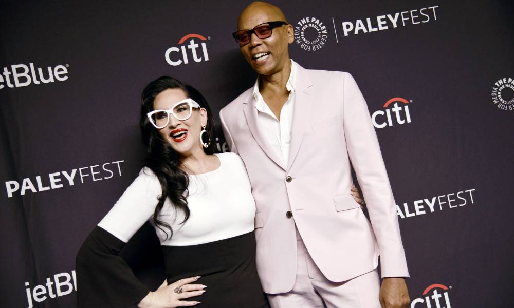 Michelle Visage and RuPaul are pictures side by side at RuPaul's Drag Race in 2019