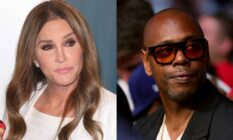 side by side images of Caitlyn Jenner and Dave Chappelle