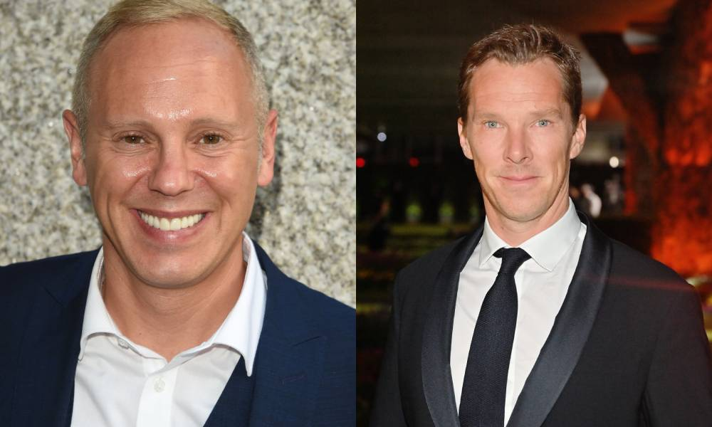 side by side images of Robert Rinder and Benedict Cumberbatch