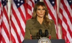 Former first lady Melania Trump addressed the Republican National Convention in August 2020