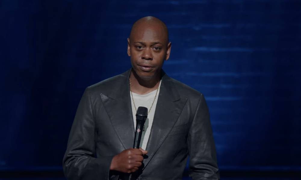 A still from Dave Chappelle's special The Closer on Netflix