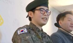 an image of staff sergeant Byun Hee-soo, South Korea's first trans soldier, during a news conference