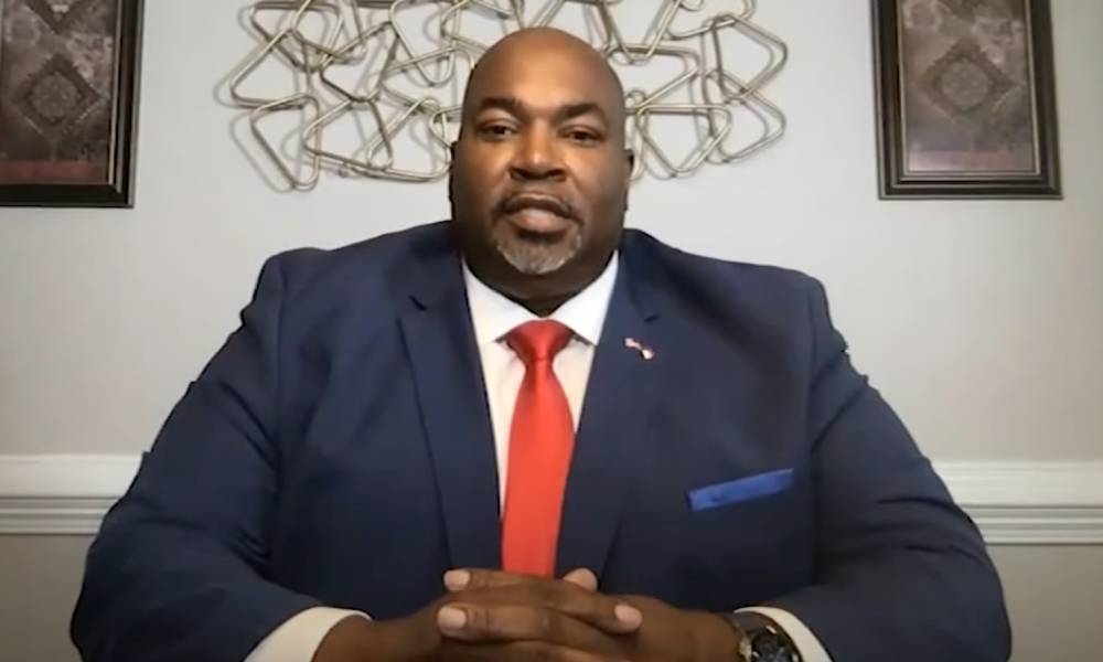 A still image from an interview with North Carolina lieutenant governor Mark Robinson and ABC11