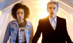A picture of Pearl Mackie as Bill Potts alongside Peter Capaldi as Doctor Who