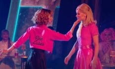 Jenna Johnson and JoJo Siwa are dressed as Sandy and Frenchie from Grease for a performance on Dancing With the Stars