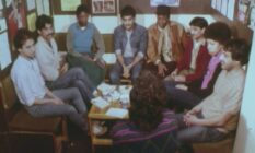 a still of a group interview for a film about the Gay Black Group available through the BFI Player