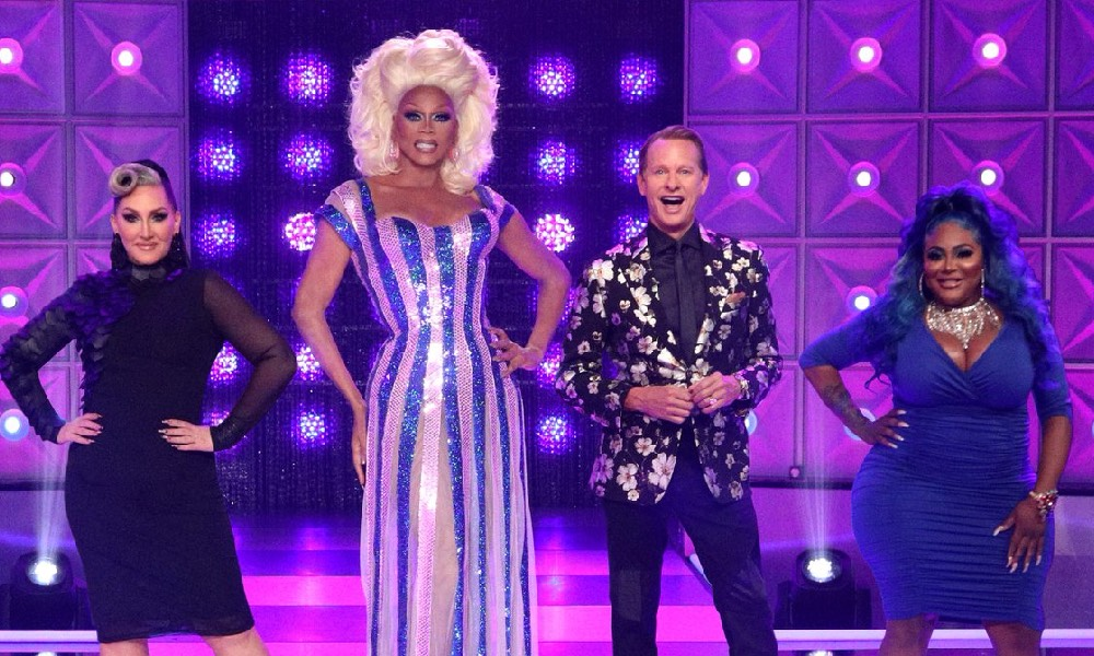 Drag Race judges on the main stage