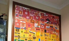 A collage of dozens of flags